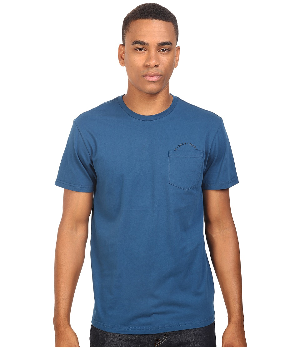 Tavik - Crew Short Sleeve Pocket T-Shirt (Blue) Men's T Shirt