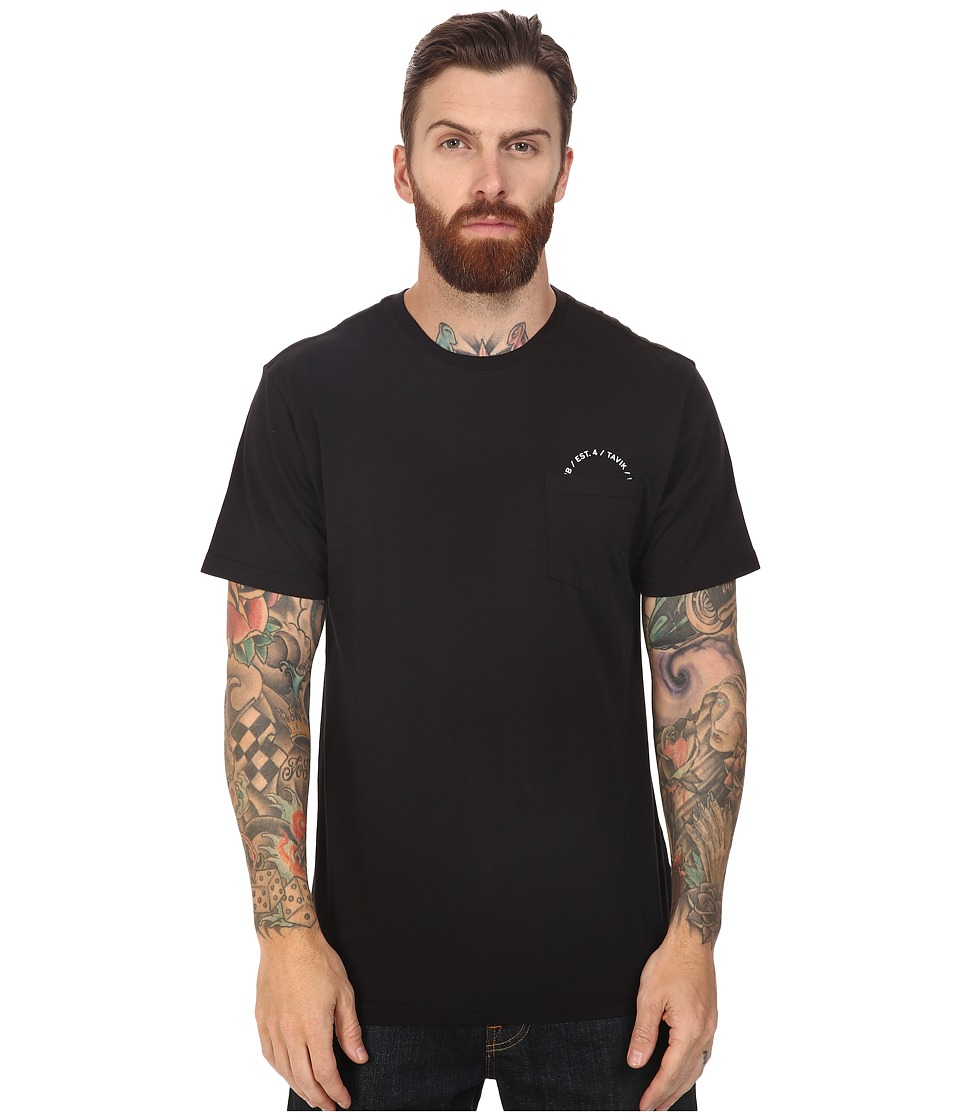 Tavik - Crew Short Sleeve Pocket T-Shirt (Black) Men's T Shirt