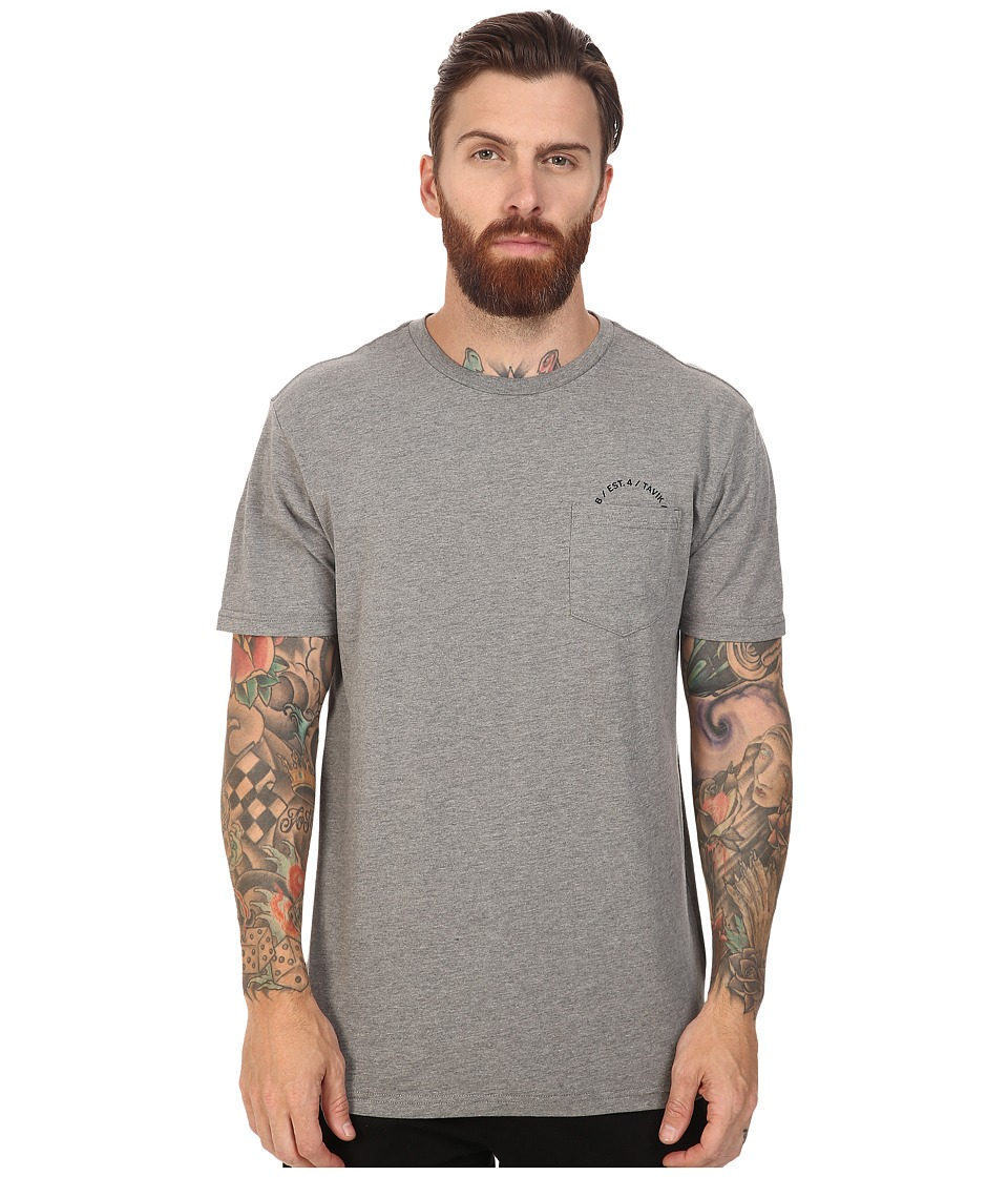 Tavik - Crew Short Sleeve Pocket T-Shirt (Heather Grey) Men's T Shirt