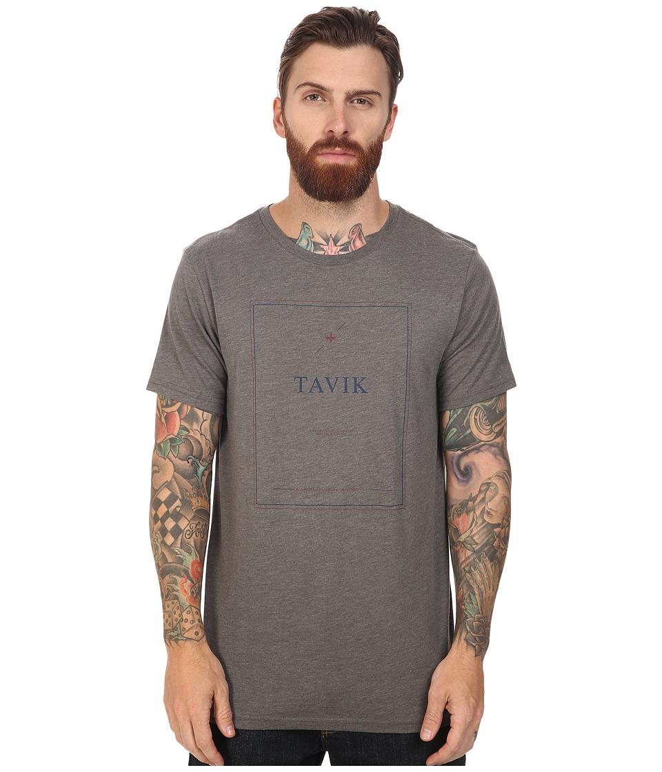 Tavik - Linia Short Sleeve (Heather Grey) Men's T Shirt