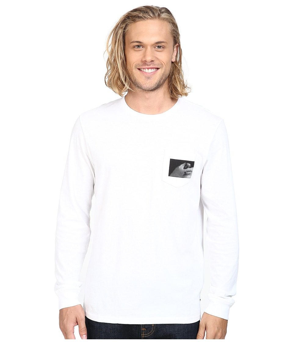 Tavik - Winston Long Sleeve Pocket T-Shirt (White) Men's T Shirt