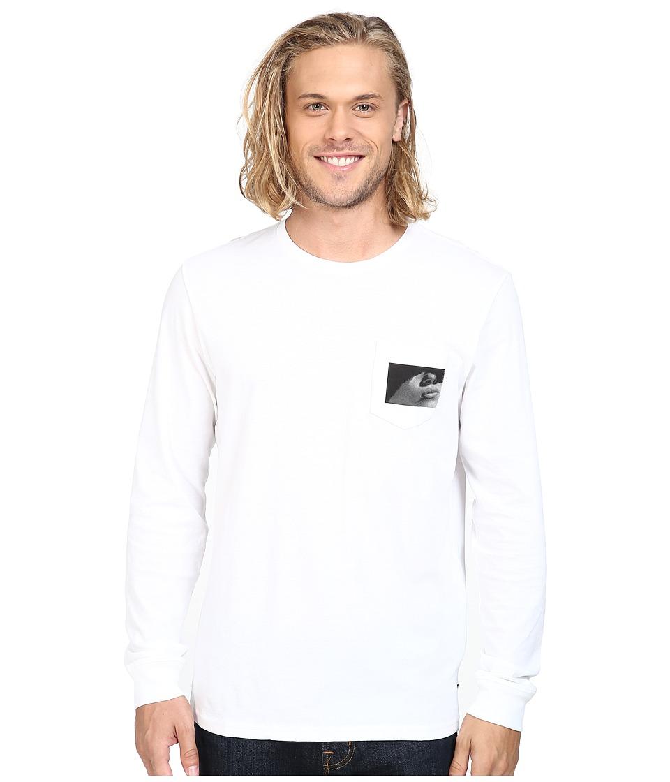 Tavik - Winston Long Sleeve Pocket T-Shirt (White) Men's T Shirt
