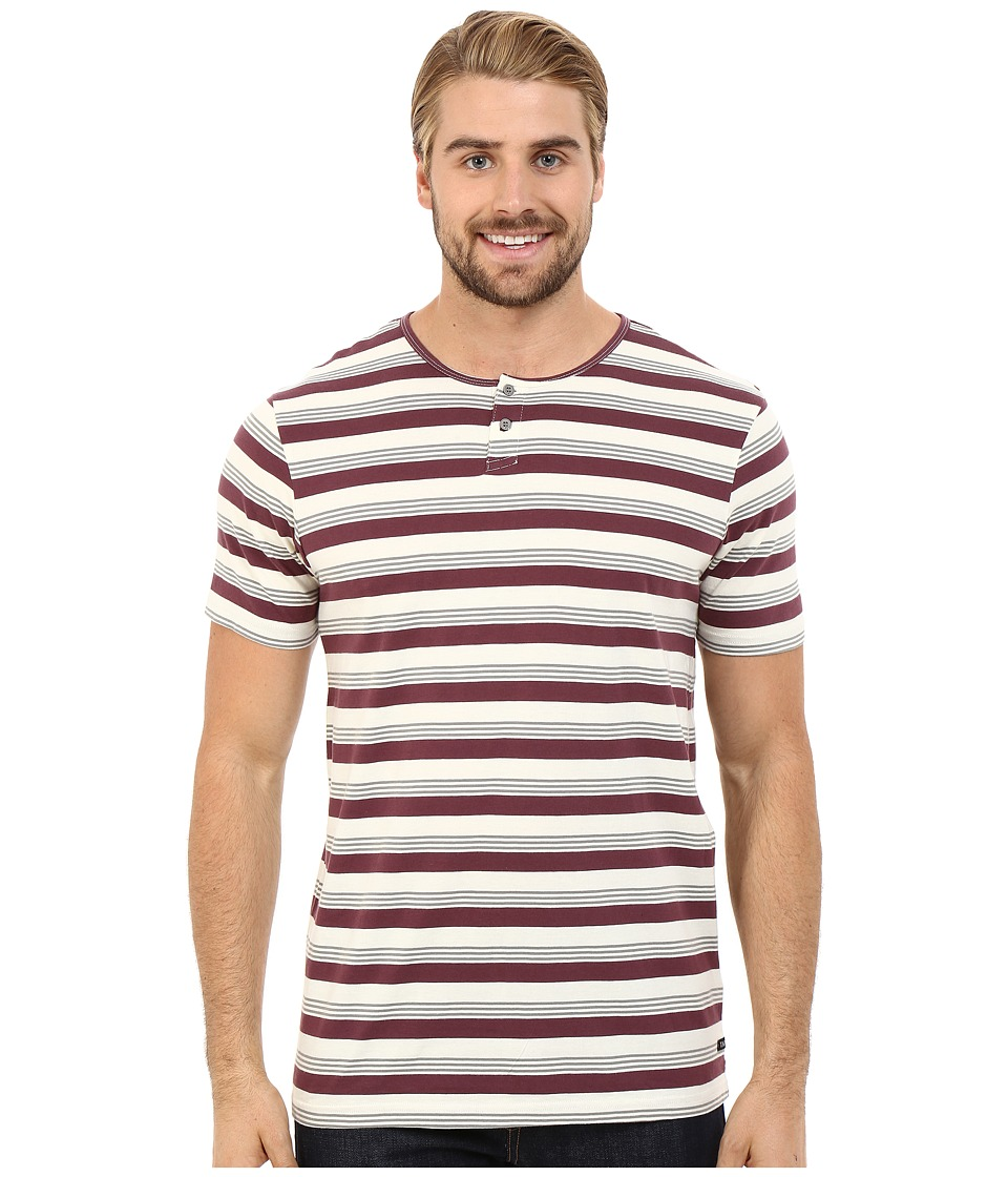 Tavik - Striker Short Sleeve Knit (Wine) Men's Short Sleeve Pullover