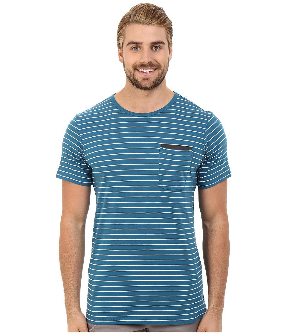 Tavik - Tracer Short Sleeve Knit (Blue) Men's Short Sleeve Pullover