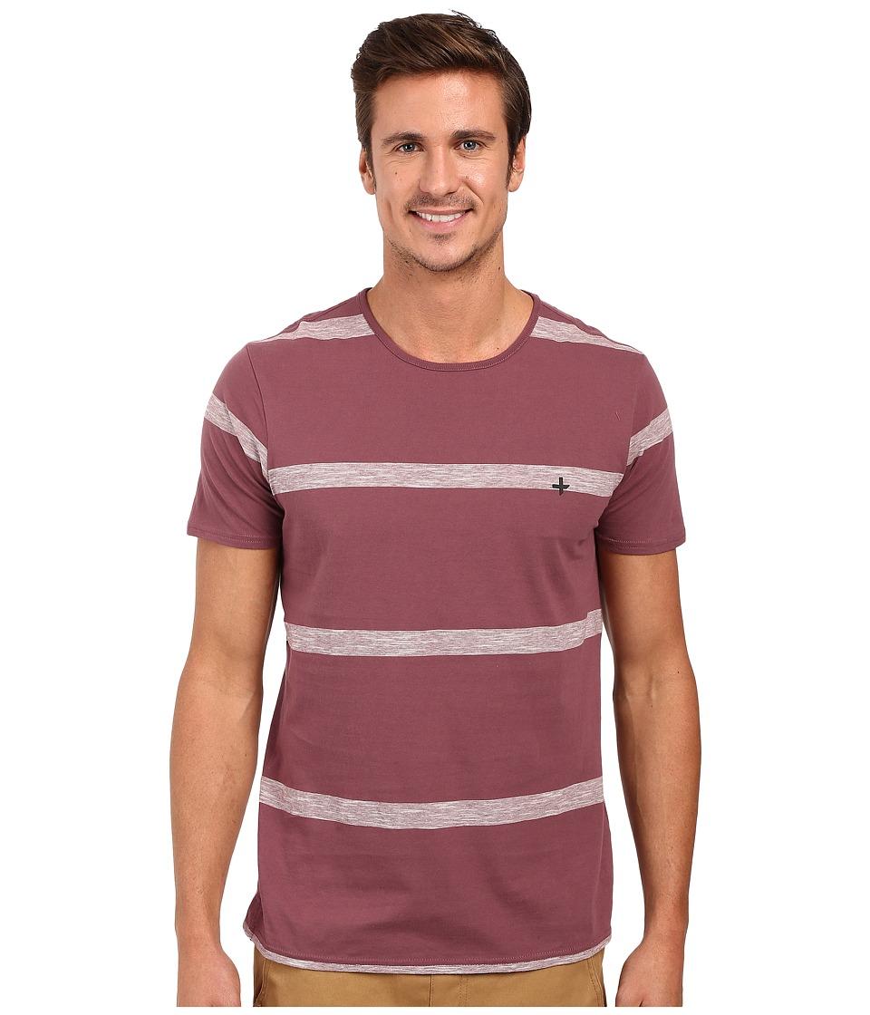 Tavik - Hauser Knit (Wine) Men's Short Sleeve Pullover