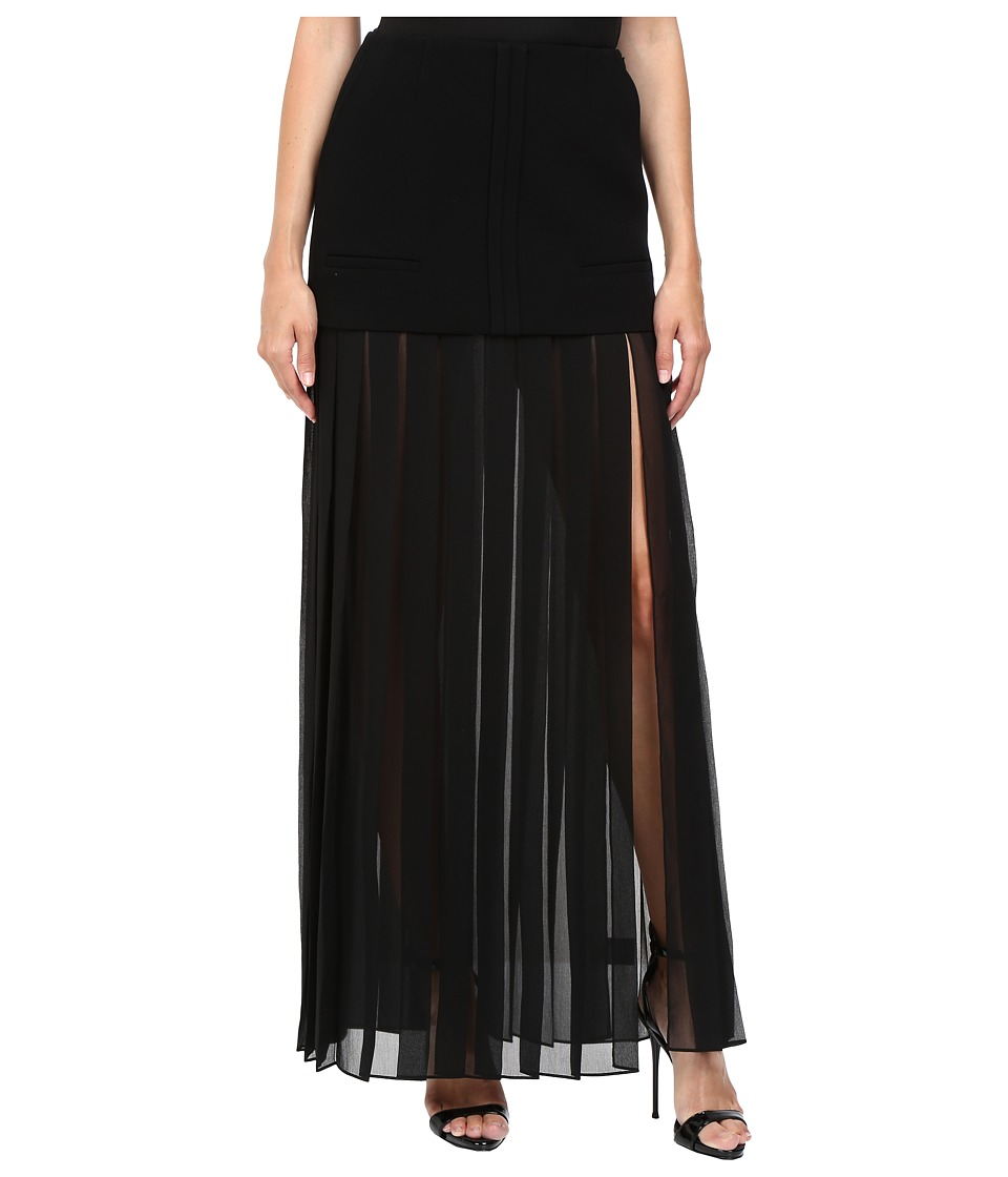 Vera Wang - Tiered Pleated Skirt (Black) Women's Skirt