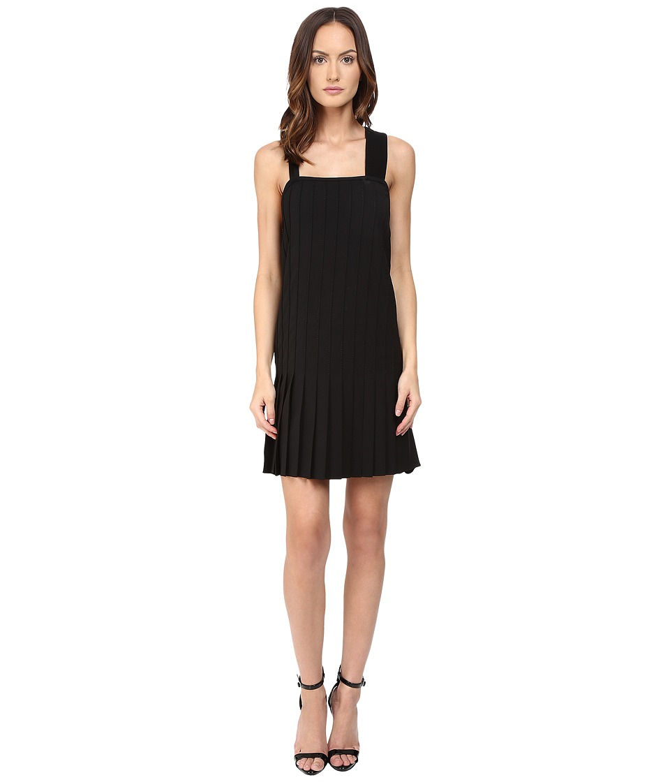 Vera Wang - Pleated Dress (Black) Women's Dress