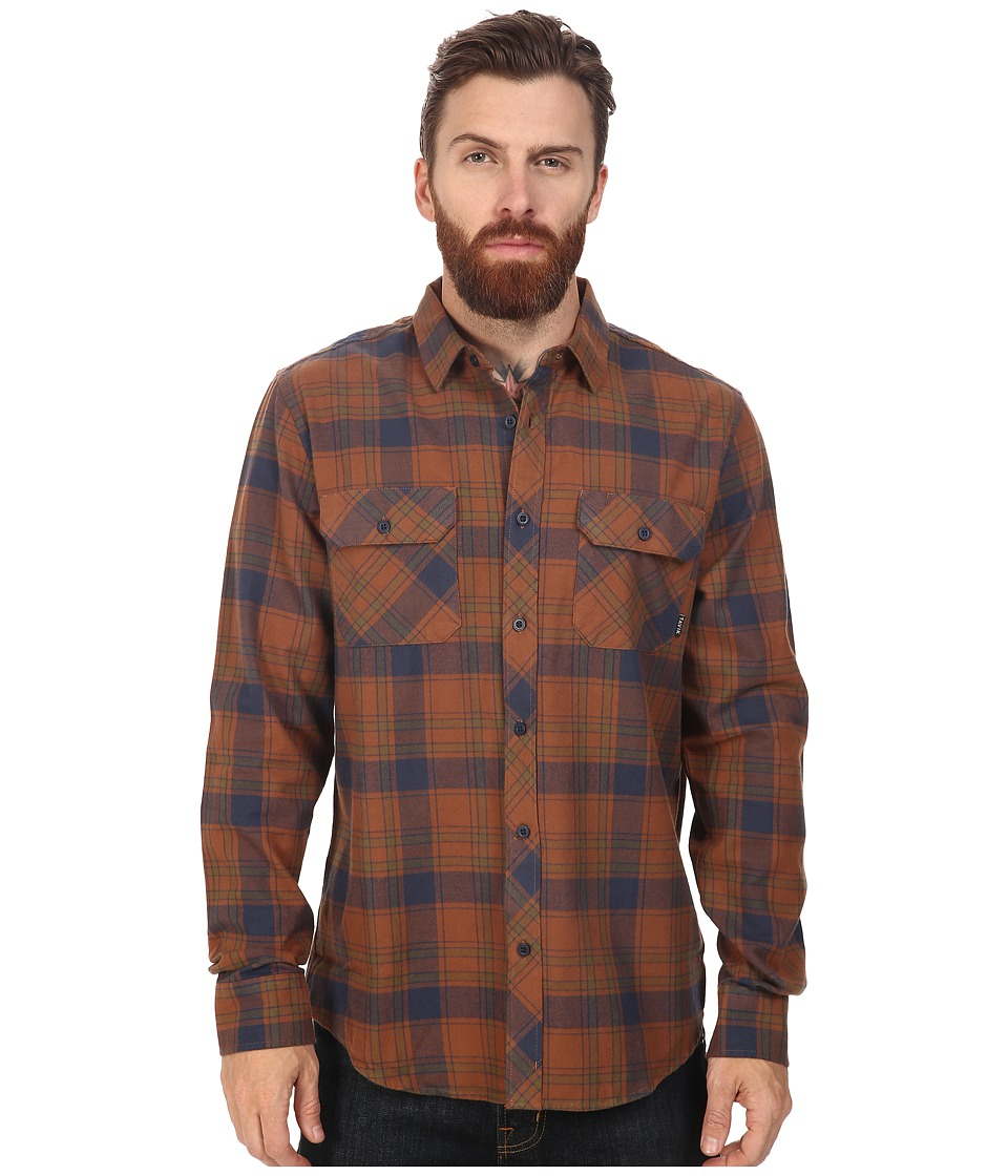 Tavik - Vincent (Brown) Men's Long Sleeve Button Up