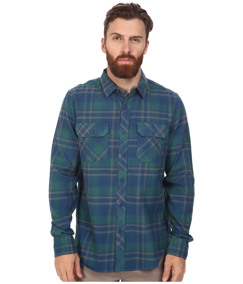 Tavik - Vincent (Blue) Men's Long Sleeve Button Up
