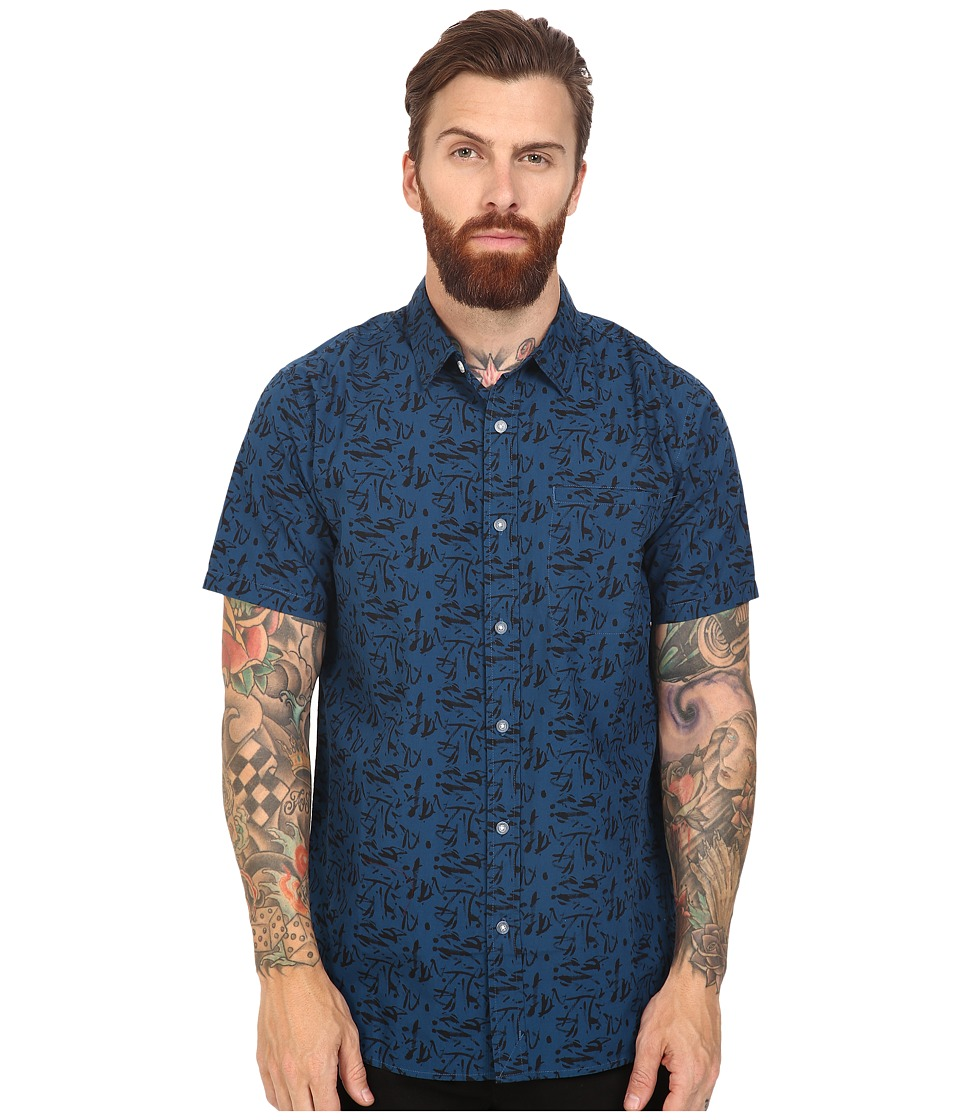 Tavik - Porter Short Sleeve (Blue Streak) Men's Short Sleeve Knit