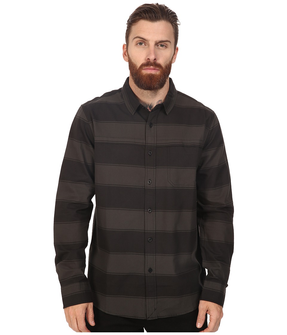 Tavik - Shin Long Sleeve (Black/Black) Men's Short Sleeve Knit
