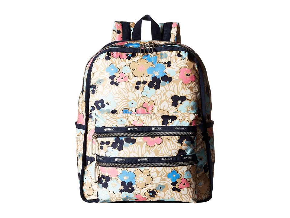 LeSportsac - Functional Backpack (Ocean Blooms) Backpack Bags