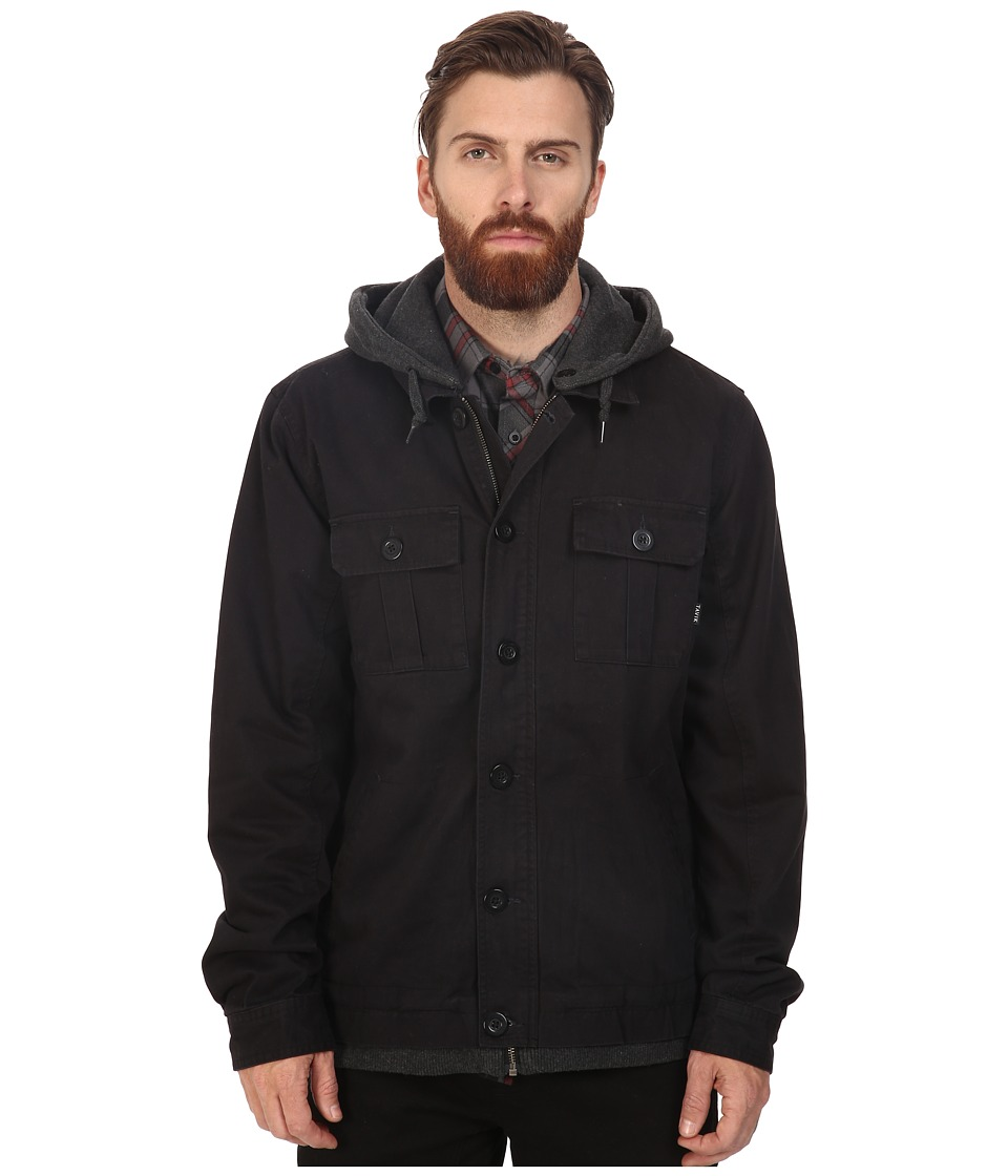 Tavik - Droogs (Black/Heather Black) Men's Coat