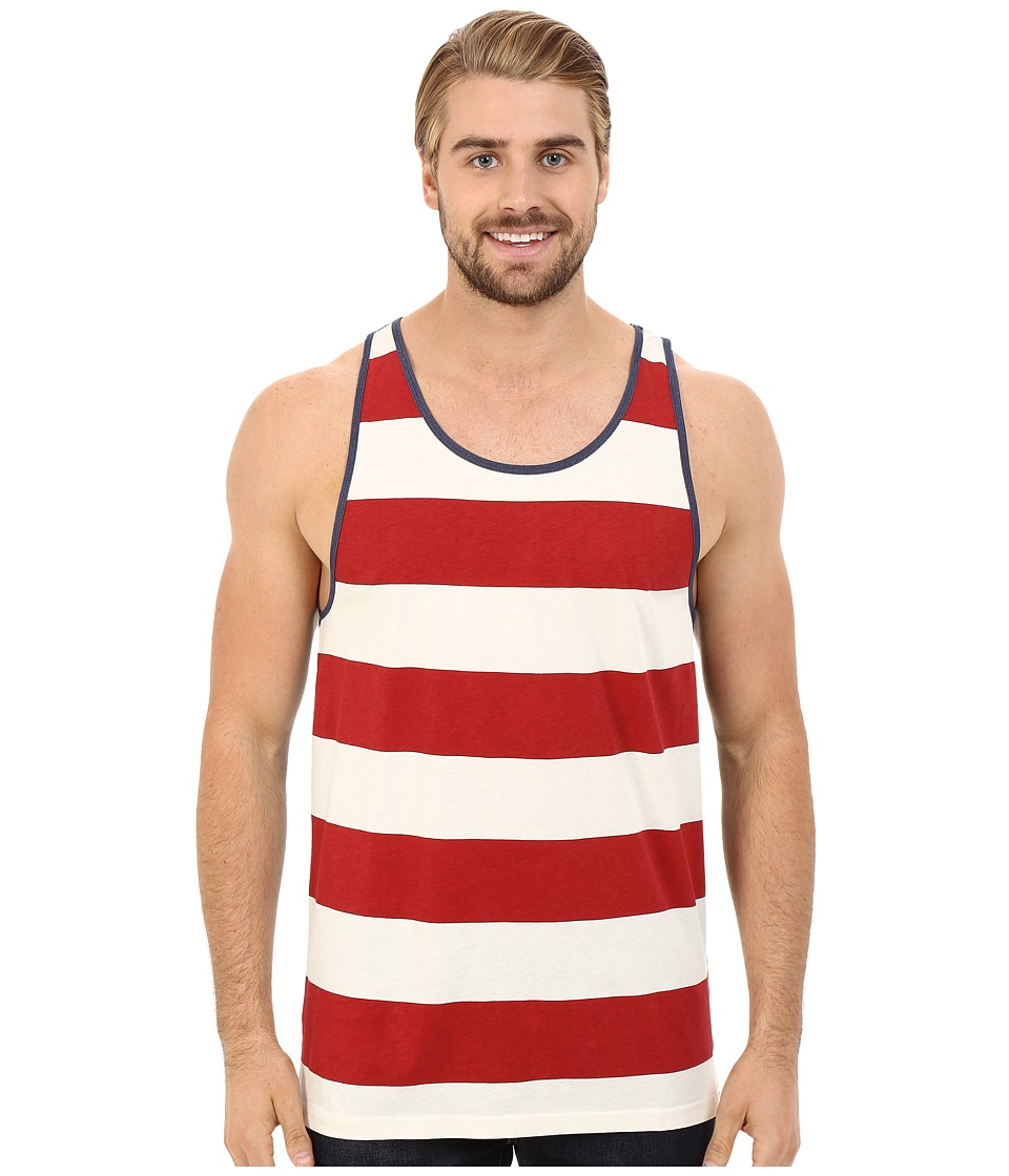 Tavik - Flag Tank Top (Red) Men's Sleeveless