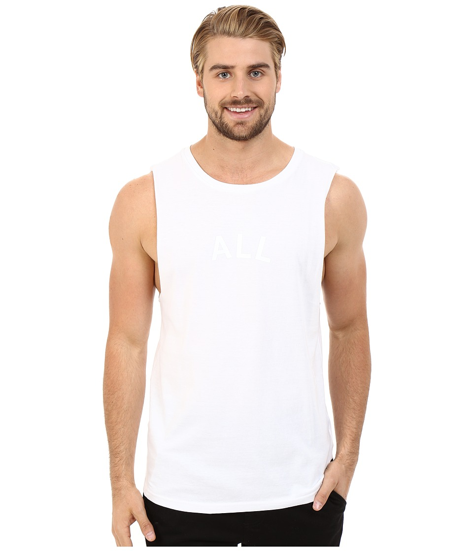 Tavik - Or Printed Tank Top (White) Men's Sleeveless