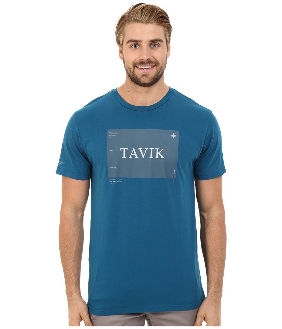 Tavik - Area Printed Tee (Blue) Men's T Shirt