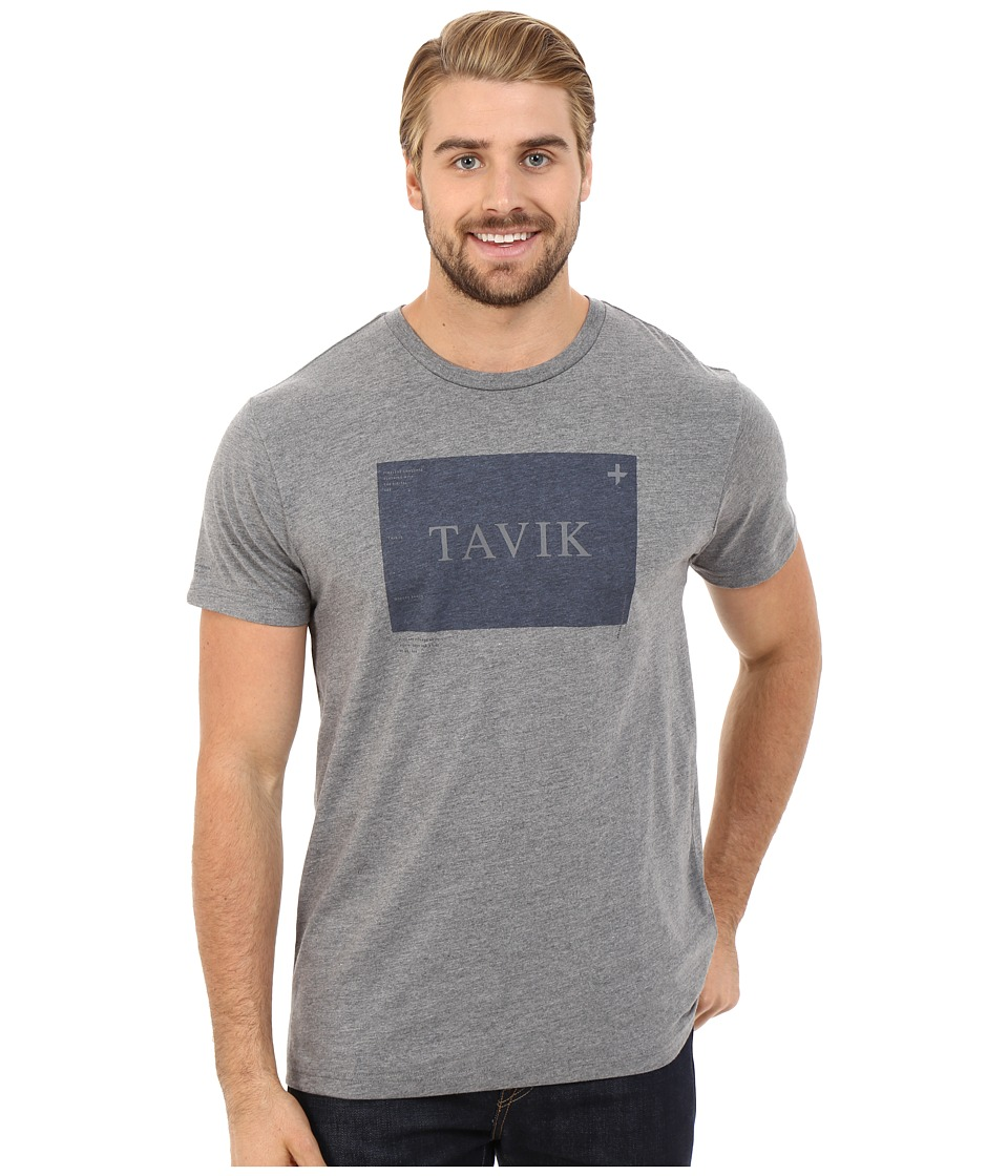 Tavik - Area Printed Tee (Heather Grey) Men's T Shirt