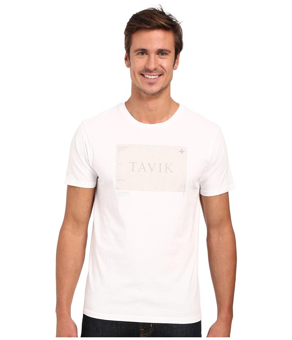 Tavik - Area Printed Tee (White) Men's T Shirt