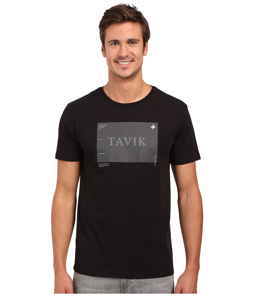 Tavik - Area Printed Tee (Black) Men's T Shirt