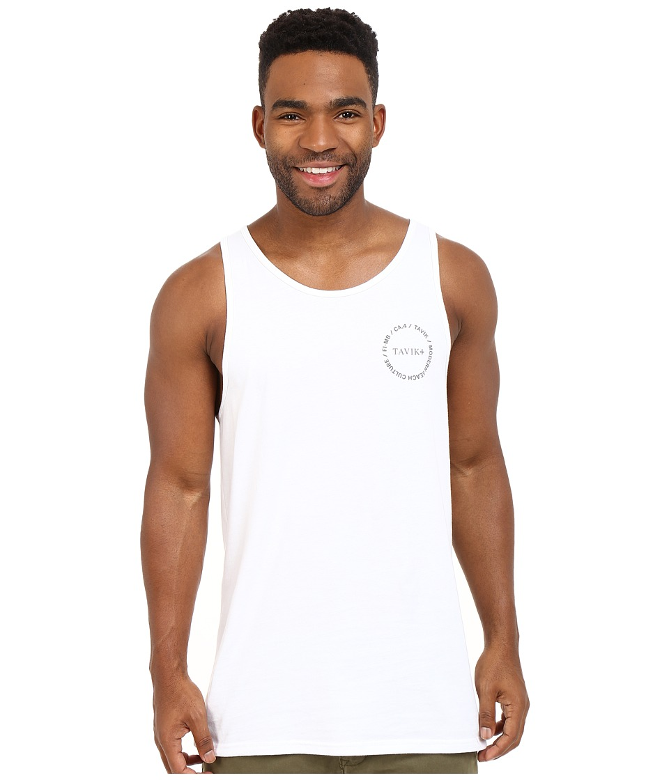 Tavik - Crew Knit Tank Top (White) Men's Sleeveless