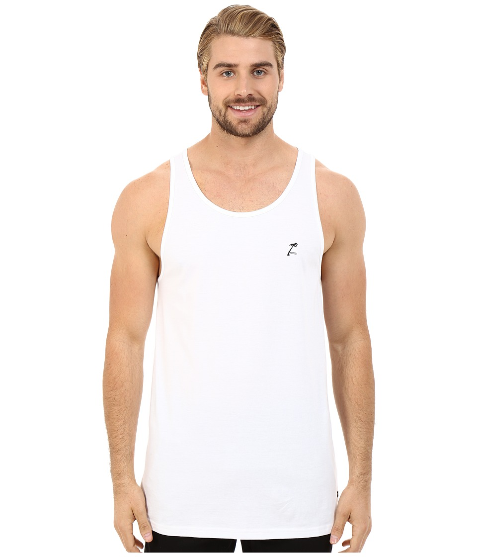 Tavik - Aloan Printed Tank Top (White) Men's Sleeveless