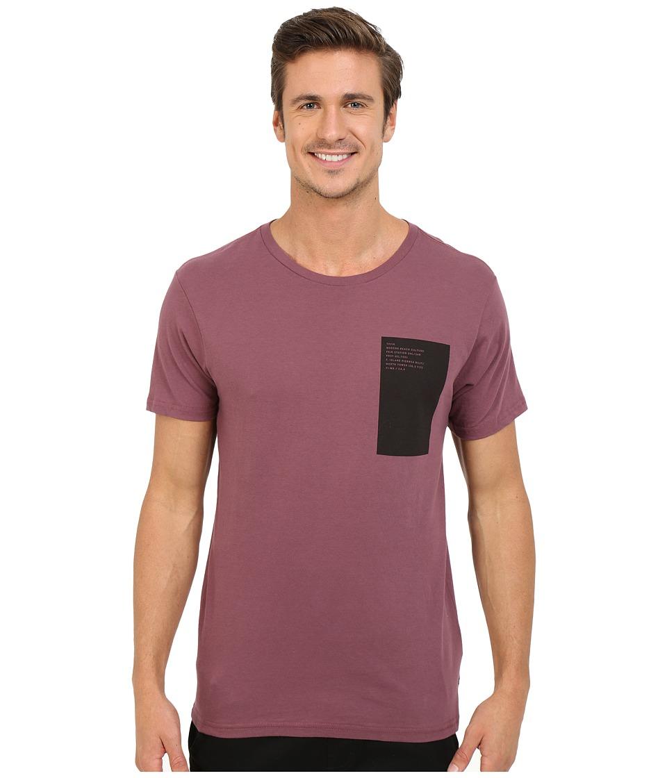Tavik - Ecta Short Sleeve Printed Tee (Wine) Men's T Shirt