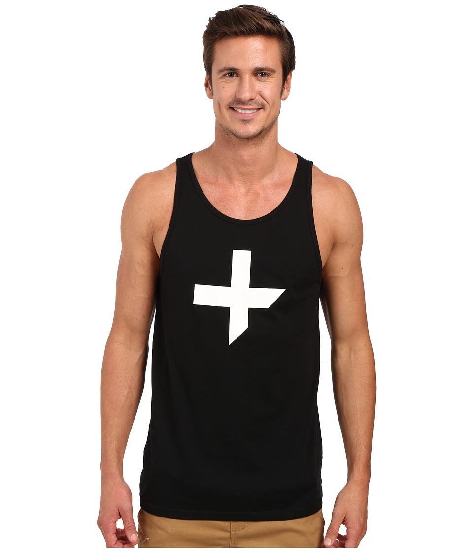 Tavik - Fragments Printed Tank Top (Black) Men's Sleeveless