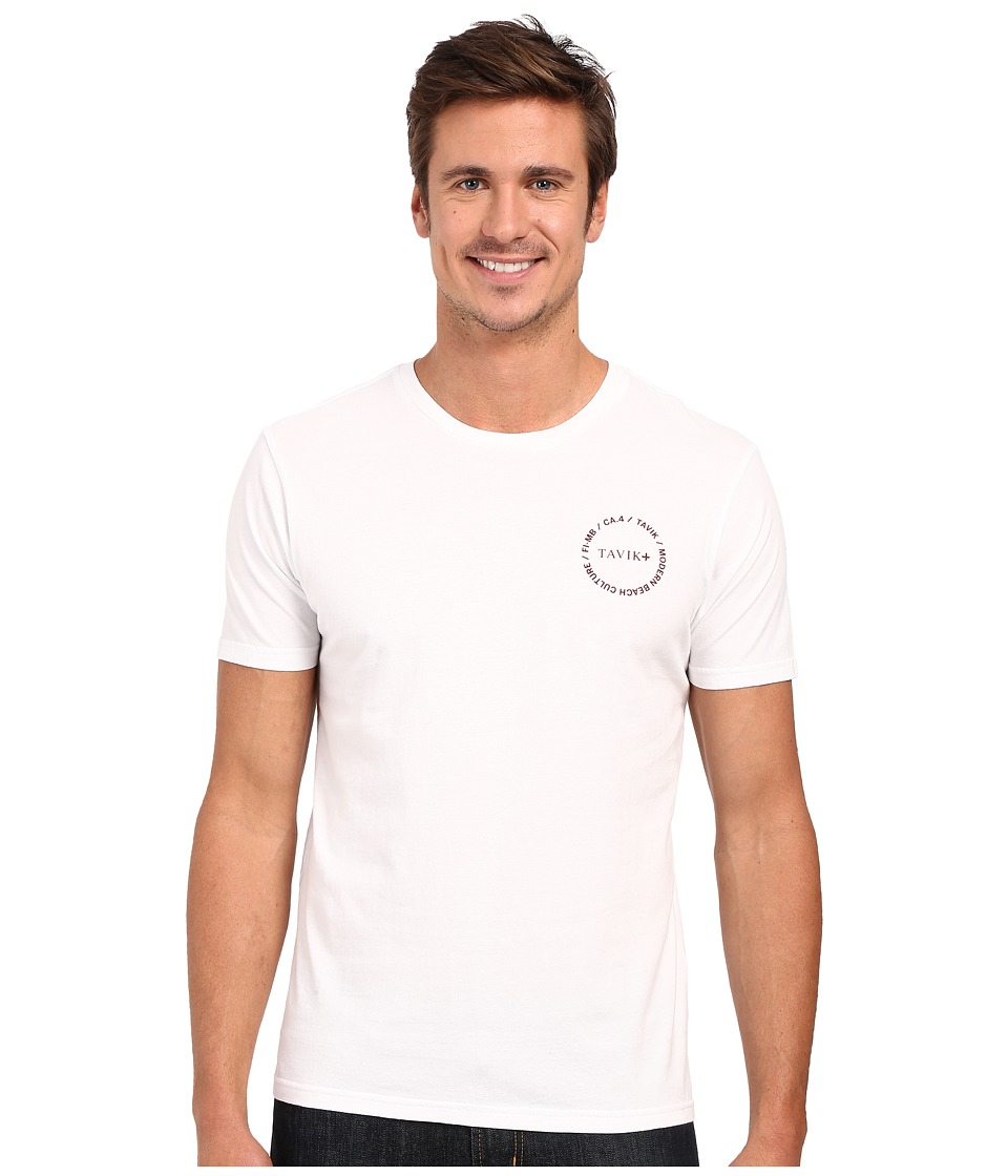 Tavik - Crew Short Sleeve Printed Tee (White) Men's Short Sleeve Pullover