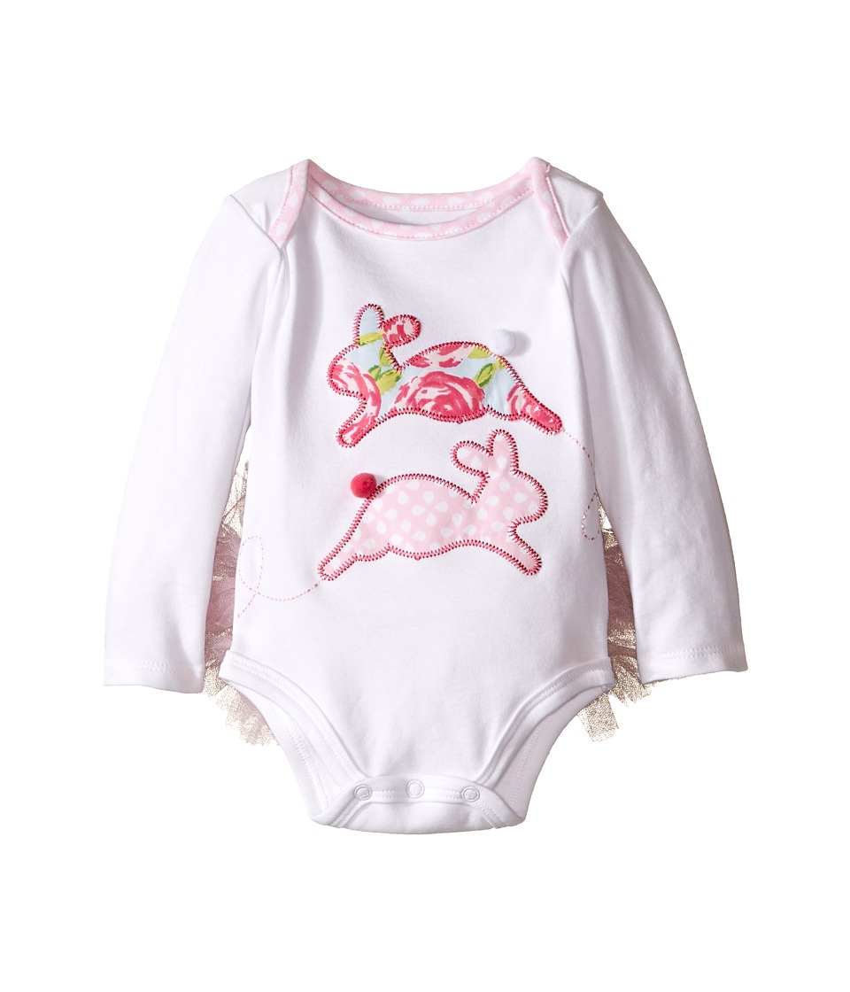 Mud Pie - Bunny Tutu Crawler (Infant) (Pink) Girl's Jumpsuit & Rompers One Piece