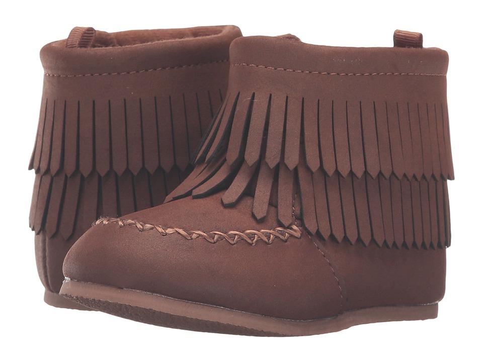 Baby Deer Fringe Suede Bootie (Infant/Toddler) (Brown) Boys Shoes