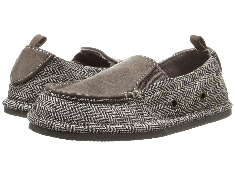 Baby Deer - Herringbone Slip-On (Infant/Toddler) (Brown) Boys Shoes