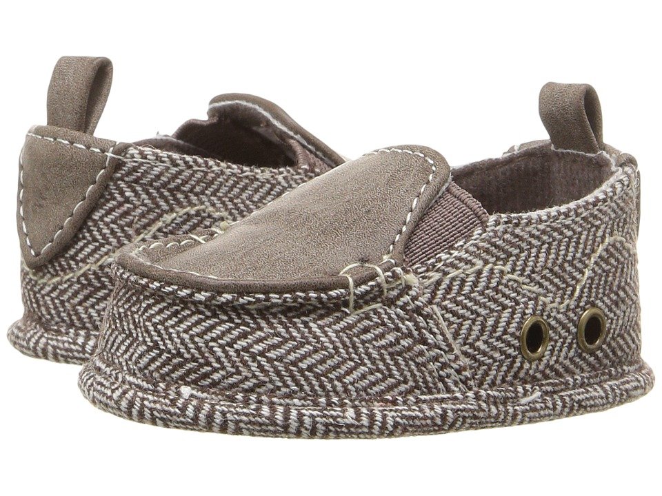 Baby Deer - Herringbone Slip-On (Infant) (Brown) Boys Shoes