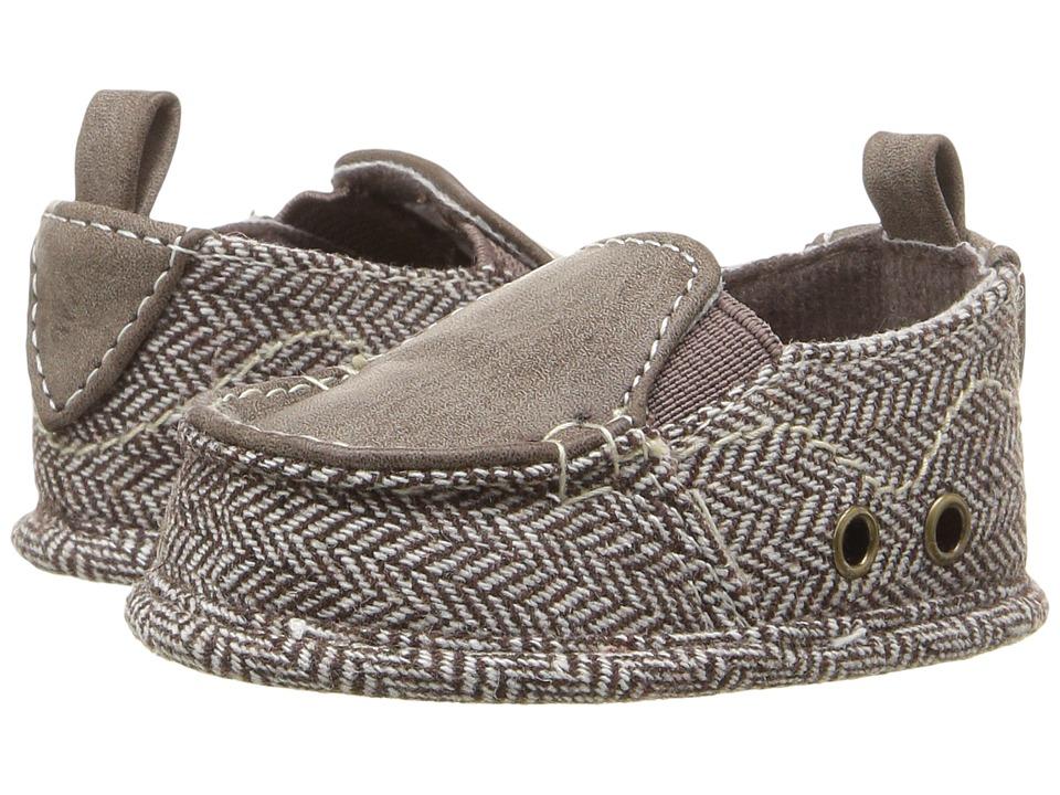 Baby Deer Herringbone Slip-On (Infant) (Brown) Boys Shoes