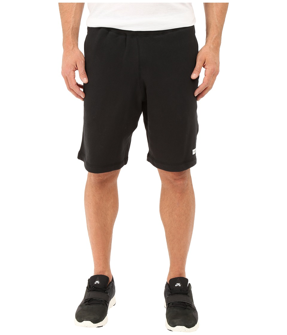 HUF - Cadet Fleece Shorts (Black) Men's Shorts