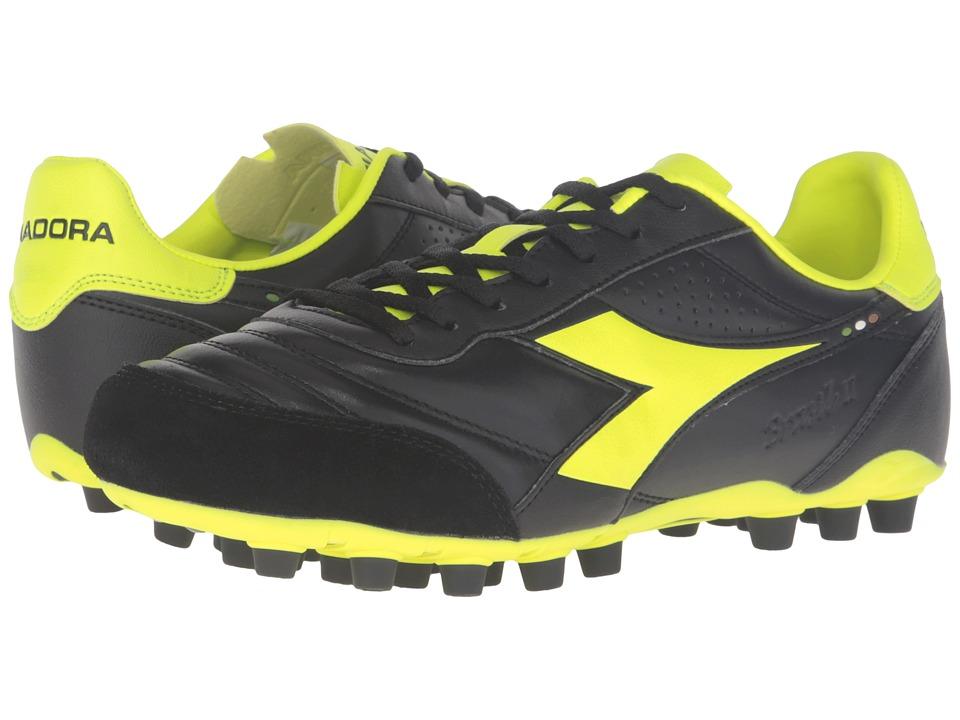 Diadora Brasil LT MDPU 25 (Black/Yellow Fluo) Men