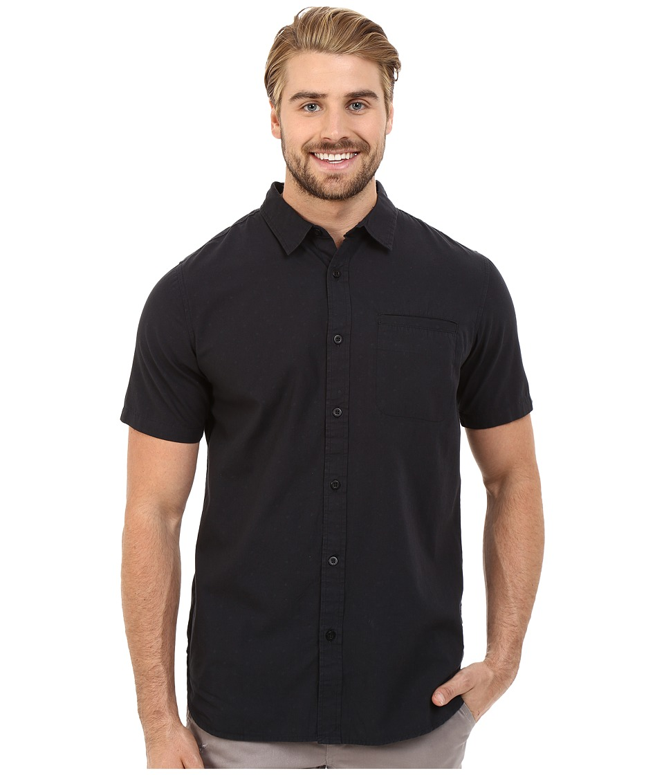 Tavik - Porter Short Sleeve Woven Shirt (Jet Black) Men's Short Sleeve Button Up