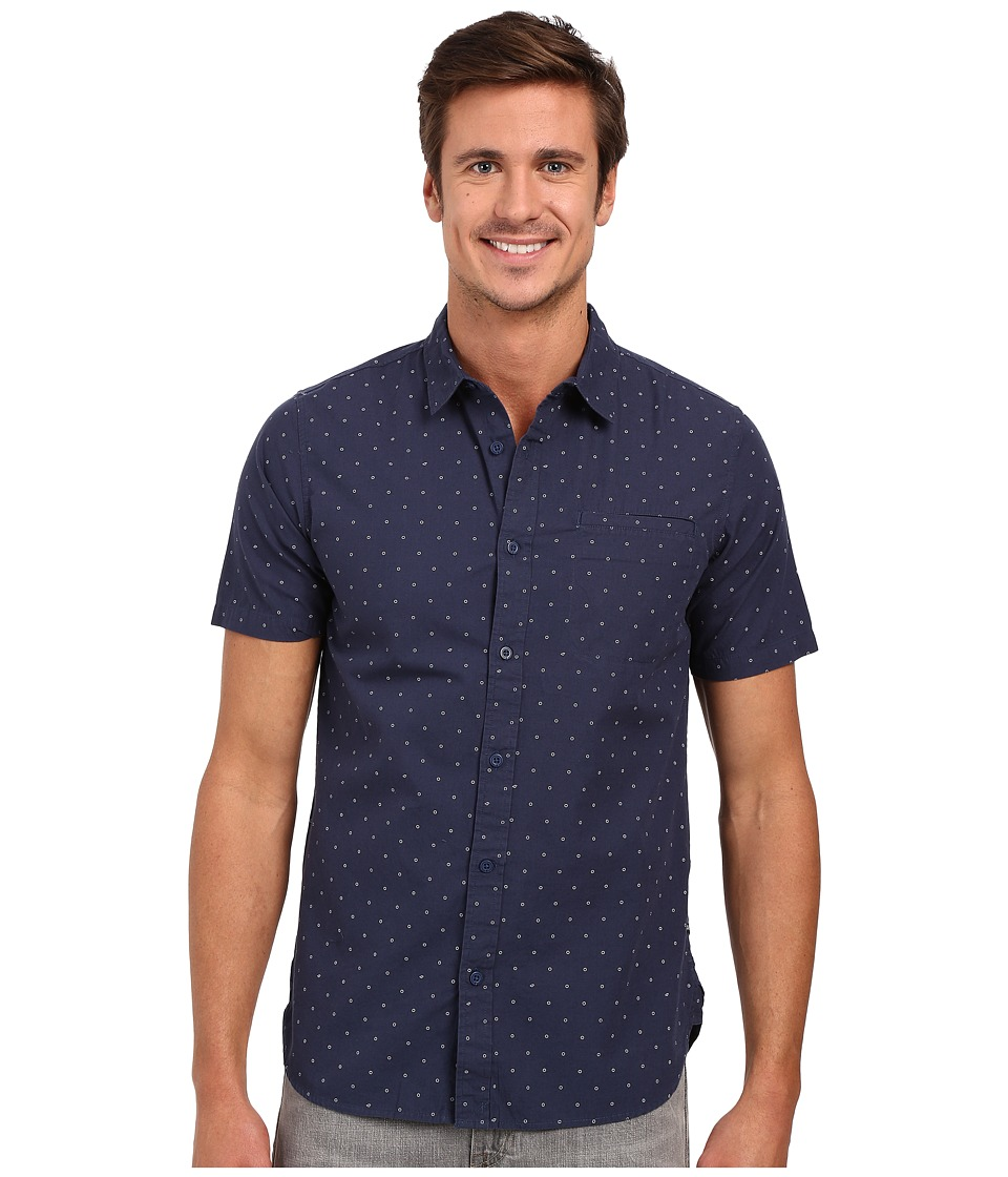 Tavik - Porter Short Sleeve Woven Shirt (Nightshade) Men's Short Sleeve Button Up