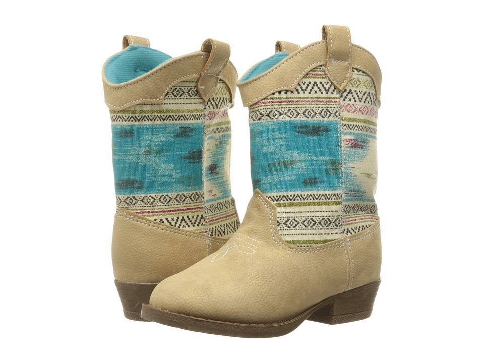 Baby Deer - Aztec Western Boot (Infant/Toddler) (Tan) Girls Shoes