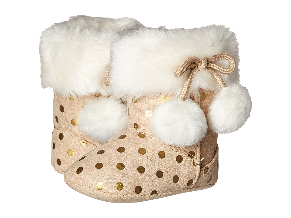 Baby Deer - Metallic Dot Boot (Infant) (Tan) Girls Shoes