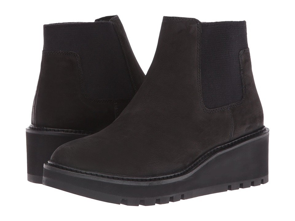 Eileen Fisher - Chelsea (Black Tumbled Nubuck) Women's Pull-on Boots