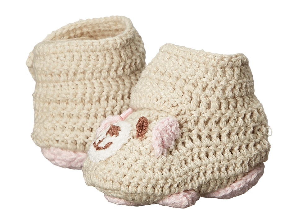 Baby Deer - Crochet Bear (Infant) (Tan/Pink) Girl's Shoes