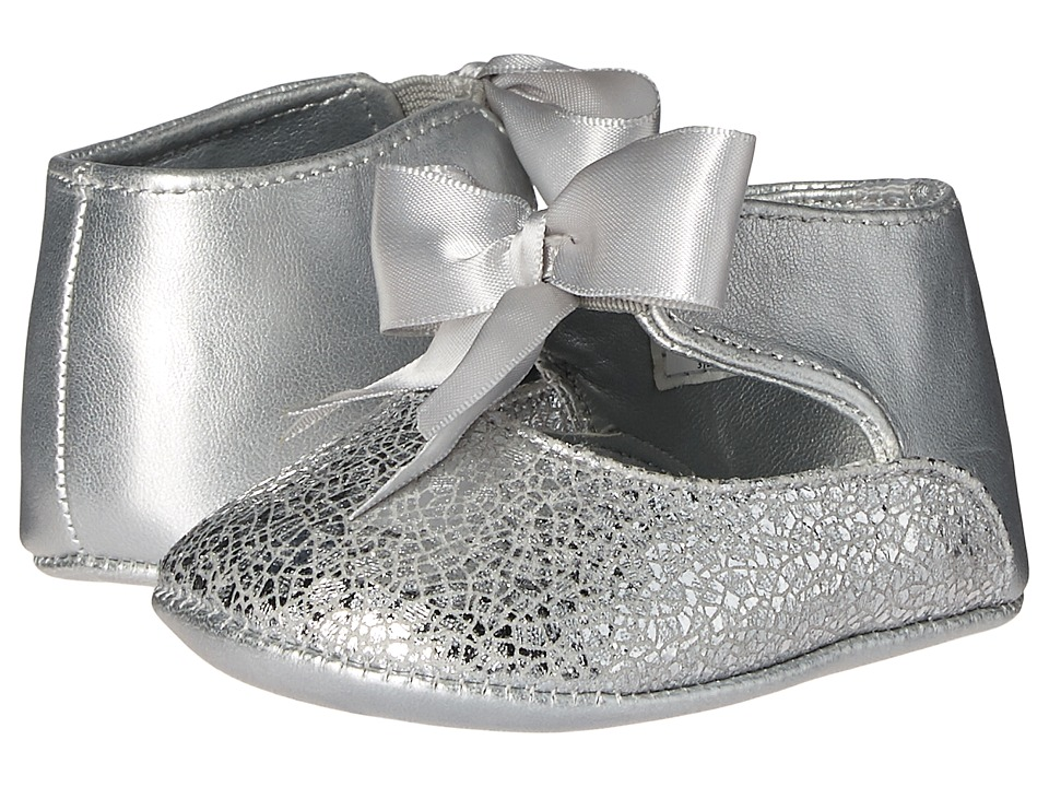 Baby Deer - Ribbon Ballet (Infant) (Silver) Girl's Shoes