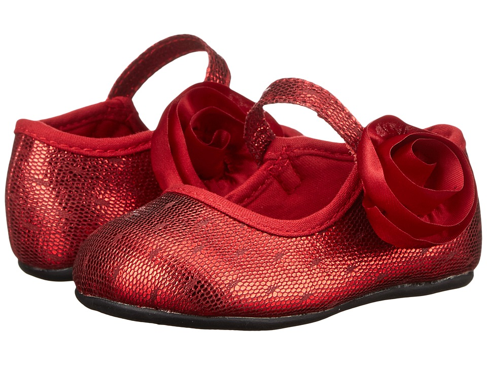 Baby Deer - Metallic Skimmer (Infant/Toddler) (Red) Girl's Shoes