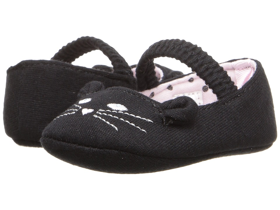 Baby Deer - Cat Skimmer (Infant) (Black) Girl's Shoes