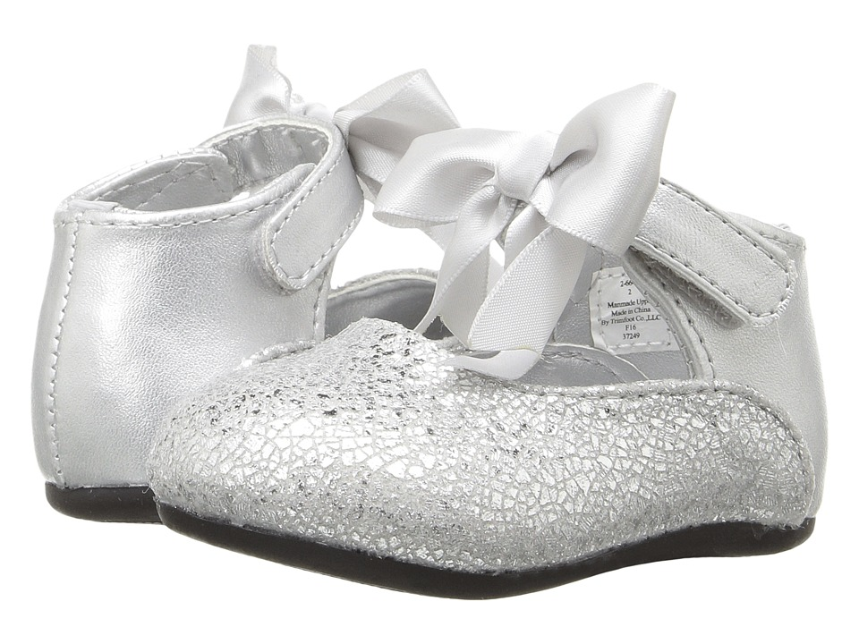 Baby Deer - Ribbon Ballet (Infant/Toddler) (Silver) Girl's Shoes