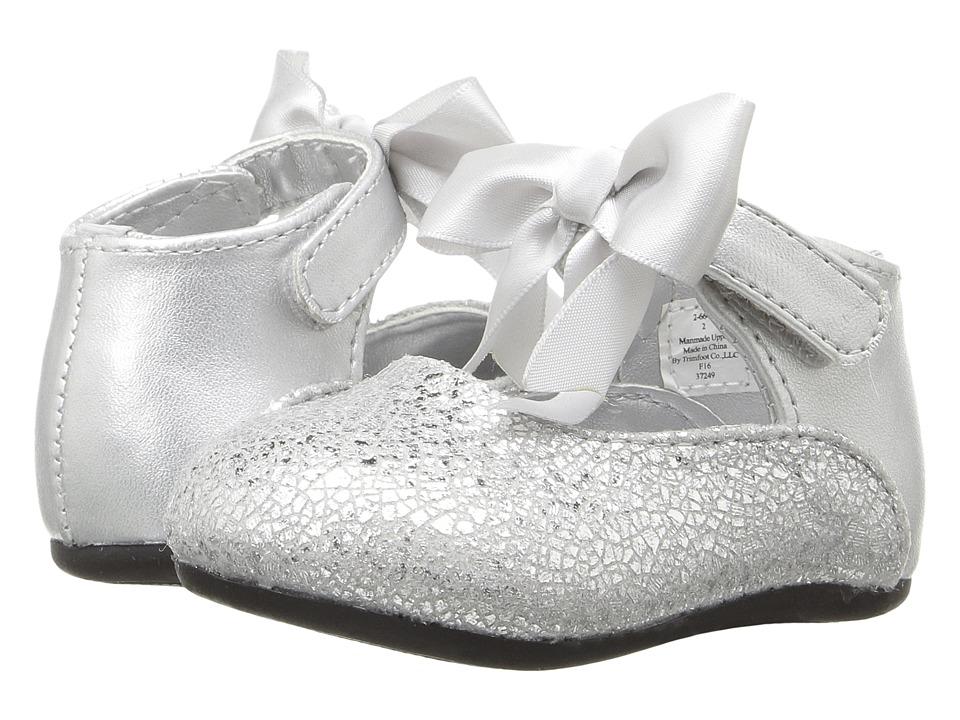 Baby Deer - Ribbon Ballet (Infant/Toddler) (Silver) Girl's Shoes
