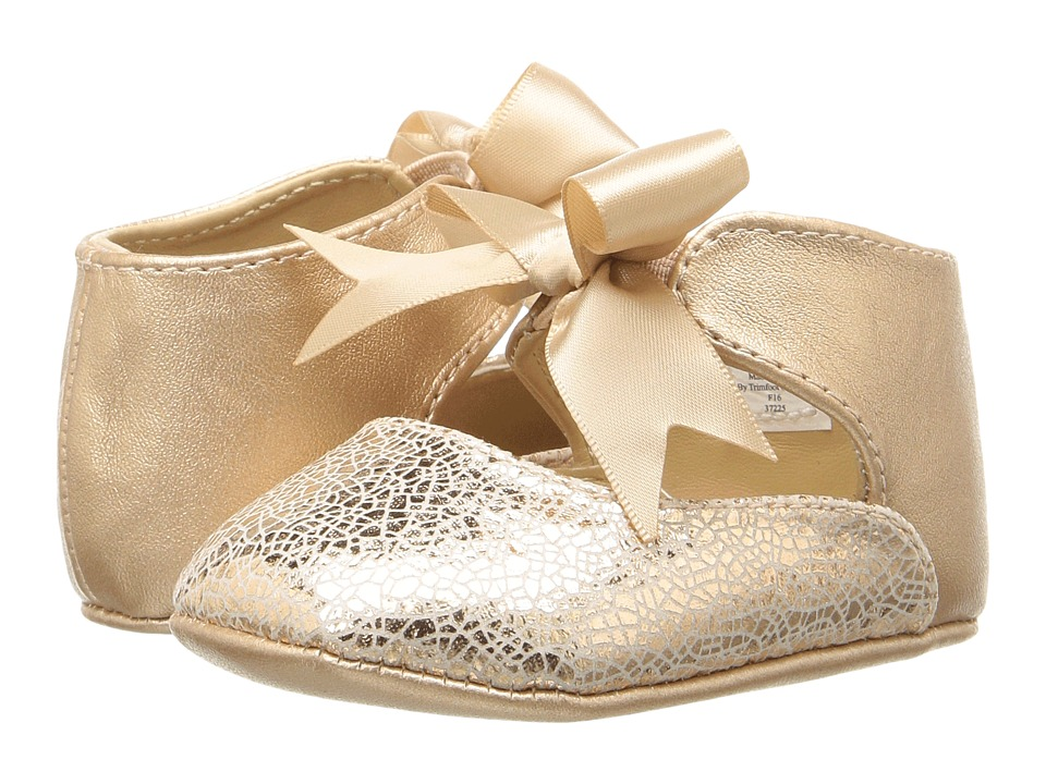 Baby Deer - Ribbon Ballet (Infant) (Rose Gold) Girl's Shoes