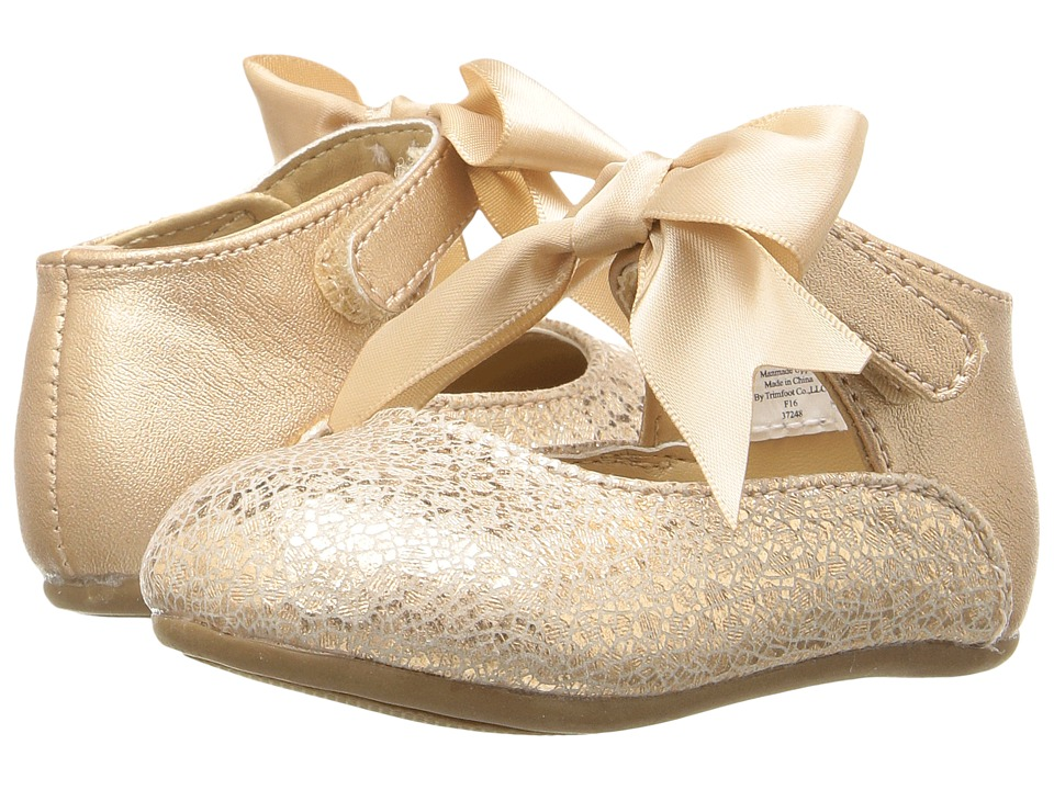 Baby Deer - Ribbon Ballet (Infant/Toddler) (Rose Gold) Girl's Shoes
