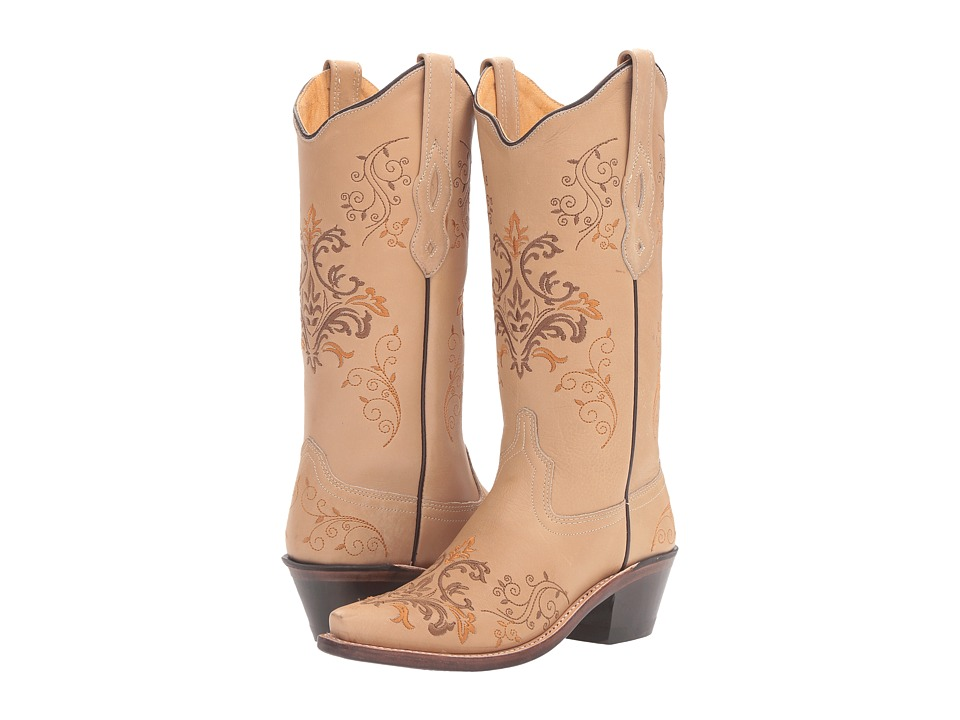 Old West Boots - LF1588 (Vintage Cream) Cowboy Boots