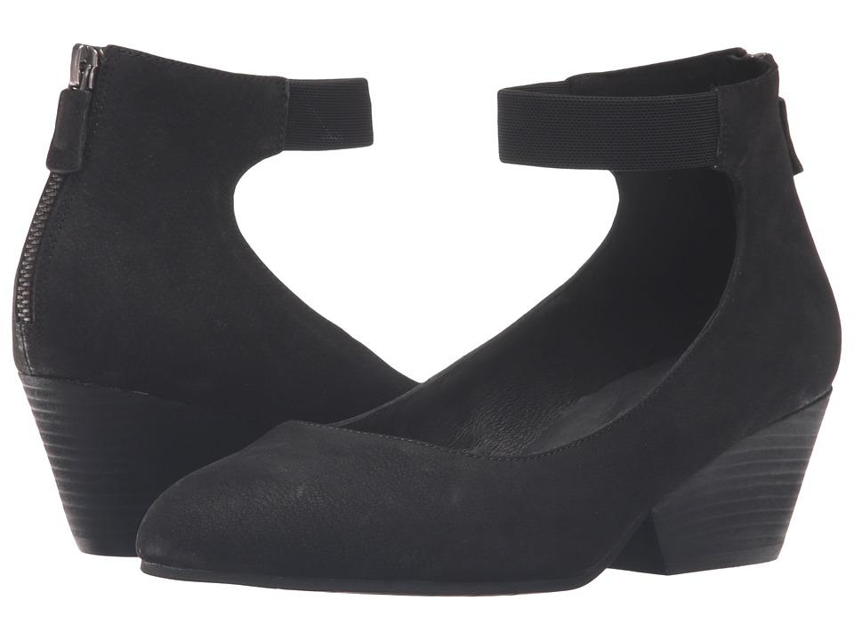 Eileen Fisher - Liza (Black Nubuck) Women's 1-2 inch heel Shoes